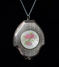 New listing Antique F&B Foster & Bailey Sterling Enamel Guilloche Locket Compact Sale!