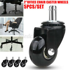 Set Of 5 Office Chair Caster 2 Inch Pu Swivel Wheels Replacement Heavy Duty
