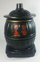 McCoy Pottery Pot Belly Stove Cookie Jar 10in Black Vintage Canister Oven
