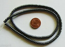 1 fil 180 perles environ PERLES RONDELLES 4x2,5mm PIERRE HEMATITE DIY Bijoux