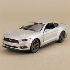 2015 Silver Ford Mustang GT Sports Car Pull-Back Model Detailed 1:38 Die-Cast