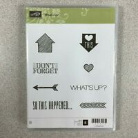 Stampin' Up Whats Up 134270 What's Up?  Rubber Cling Stamp Set of 8 Scrapbooking