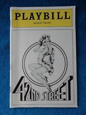 42nd Street - Majestic Theatre Playbill - August 1982 - Jerry Orbach - Martin