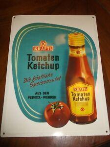 Blechschild Werbung Kraft´s Tomaten Ketchup Die köstliche Speisenzutat 40x30 OVP