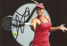 TENNIS: JANA FETT SIGNED 6x4 ACTION PHOTO+COA *WIMBLEDON*