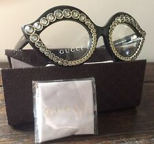 AUTH.NEW GUCCI Cat Eye glasses GG 3867/S 80799 53 25 140 Swarovsky Crystals NWT