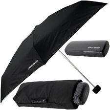 pierre cardin Schirm&Eui (Carbon) Regenschirm klein/leicht/schwarz,Taschenschirm