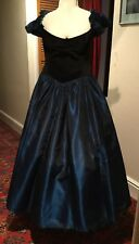 VINTAGE 1980's VELVET & TAFFETA EVENING/BRIDESMAID DRESS