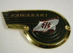 KAWASAKI TANK BADGE for W SERIES 650 TWIN 1967 1968 1969 Metal Flag Emblem KT05