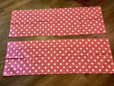 Pink & White Polka Dot Valances, Cotton, Curtains, Girl or Baby Room, Nursery