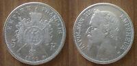 France 5 Francs 1869 Silver Coin Napoleon 3 King Franc Free Shipping World