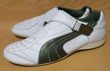 Puma Mens White Leather Laceless Sneakers Shoes Size 13