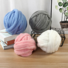 Super Thick Yarn Natural Wool Chunky Felt Roving Spinning Hand Knitting Supplies