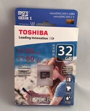 New Toshiba Exceria HD 32GB UHS-I U3 Micro SDHC SD Flash Card
