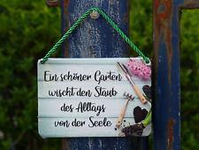 Ein schöner Garten...Garten Blumen  Pflanzen Blechschild KULTHÄNGER
