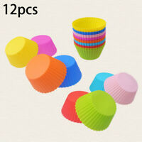 12pcs Gâteau Silicone Moule Cupcake Doublure Muffin Chocolat Dessert Cuisson