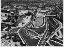 Alemania, vista de una autopista de Hamburgo Vintage silver print Tirage argen