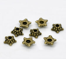 500 Perles Coupelle Fleur Couleur bronze 5mm
