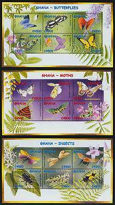 Ghana 2335-7 MNH Butterflies, Flowers