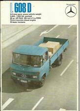 MERCEDES BENZ  608D, 5.6 TONS  TRUCK LORRY BROCHURE 1970