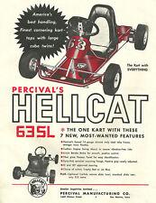 Vintage Beautiful 1960's Percival Hellcat Go-Kart Ad
