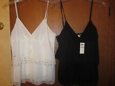 Lot-2 M NWOT White & NWT Black OLD NAVY Embellished Camisoles TotalRet$59