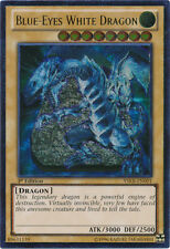 Yugioh Blue-Eyes White Dragon YSKR-EN001 1st Ed Ultimate Light Play Fast Ship!