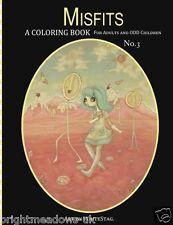 Misfits Vol 3 Adult Colouring Book Odd Fantasy Creepy Cute Halloween Gothic Art