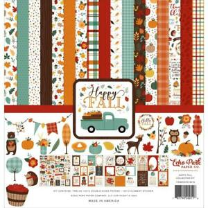 Autumn HAPPY FALL Collection Kit 12X12 Scrapbooking Kit Echo Park HAP219016 New