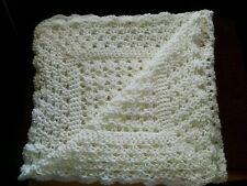 Hand crochet baby blanket.You choose color,28x30