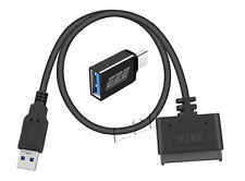 """USB 3.0 to 2.5"""" HDD SSD Hard Drive Adapter Cable w Type-c Adapter Support MAC PC"""