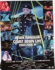 "AYUMI HAMASAKI ""COUNTDOWN LIVE"" JAPAN PROMO POSTER - J-pop Music Legend"