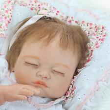 "bebe Reborn Silicone doll 20"" Girl baby Lifelike Realistic Full Vinyl body gifts"