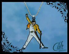 Queen sterling silver / faux leather necklace Freddie Mercury Bohemian Rhapsody