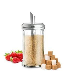 Zuckerstreuer Zuckerspender Zuckerdosierer Zuckerglas Zuckerdose Streuer 230ml