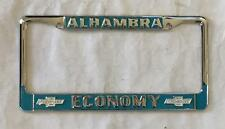 Economy Chevrolet Dealer License Plate Frame Alhambra, CA Restored 1956+ Chevy
