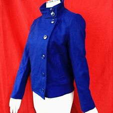 NWT  attention women fashion 60% wool blend blue outwear bomber jacket size--1X