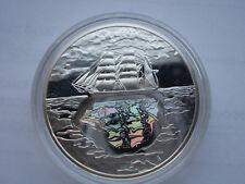 Poland 10 zlotych  2007 Silver-Konrad Korzeniowski-sailing/ Hologram,mirror UNC