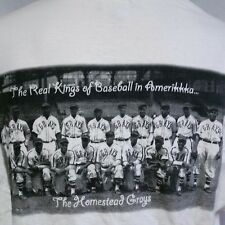 VTG 90s Negro League T Shirt Homestead Grays Real Kings Hip Hop Baseball XXL 2XL