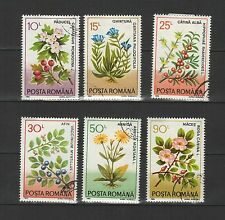 plantes médicinales ROUMANIE 1993 série de 6 timbres oblitérés / T1714