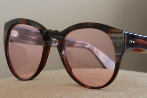HYDE'S UNISEX SUNGLASSES BROWN BEIGE & ROSE MOTHER OF PEARL A BOUTIQUE CLASSIC