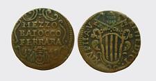 FERRARA - BENEDETTO XIV 1740-1758 -AE/ 1/2 BAIOCCO 1745