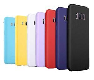 Soft Slim Silicone Matte Gel Back Case for Samsung A6 A7 J4 J6 A5 J3 J5 S7 S8