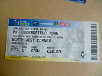 Ticket 2004 LEEDS UNITED v HUDDERSFIELD TOWN, 24 Aug (Carling CUP 1st RD)