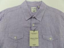 Murano Baird McNutt Men's Shirt 100% Linen SZ XL Slim Fit Purple NWT