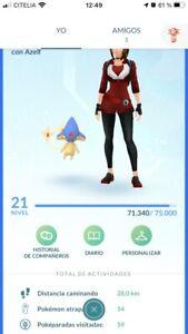 pokemon go Shiny Azelf + Rare Pokémon Ptc Acc