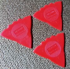 3 - Herdim Triple Sided Nylon Guitar Pick Red  MADE IN GERMANY