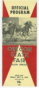 OREGON STATE FAIR 1950 - HORSE RACING PROGRAM