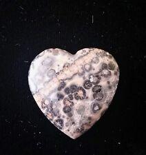 Leopard Skin Agate Healing energy stone heart, 25mm