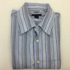 EXPRESS - Blue Striped Long Sleeve Button Front Collared Shirt size L Mens